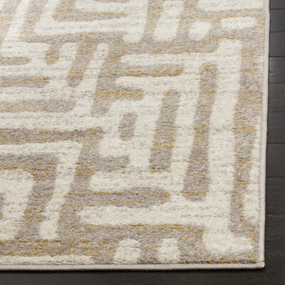 Vadim Ivory Area Rug Rug Size: Rectangle 51 x 76