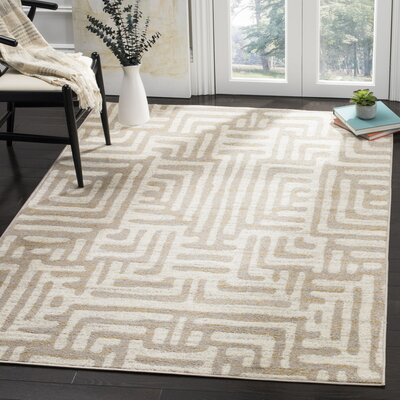 Vadim Ivory Area Rug Rug Size: Rectangle 67 x 92