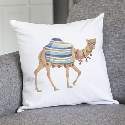 Calandre Camel Throw Pillow