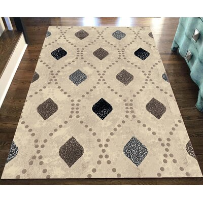Fulop Bone Abstract Area Rug Rug Size: Rectangle 53 x 73