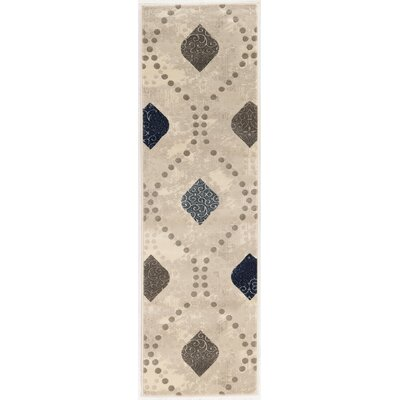 Fulop Bone Abstract Area Rug Rug Size: Runner 22 x 77