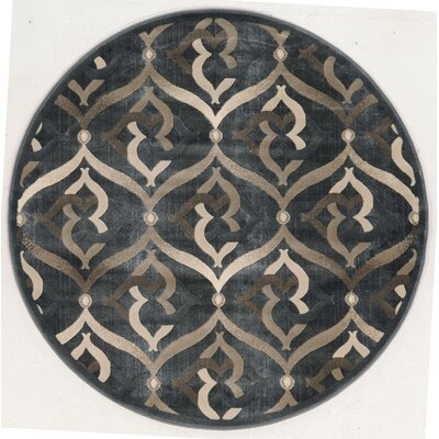 Fulop Gray Area Rug Rug Size: Round 53