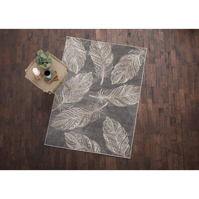 Orin Feather Gray Area Rug Rug Size: 710 x 910