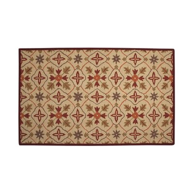 Agustine Beige/Red Area Rug Rug Size: 8 x 10
