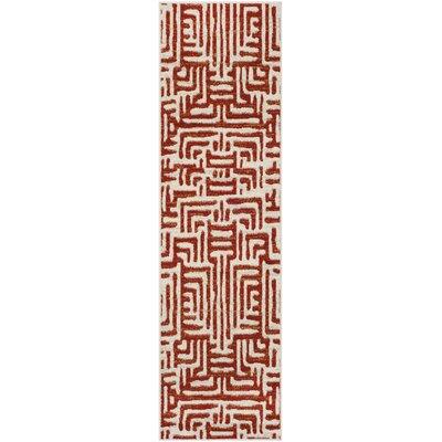 Vadim Ivory/Terracotta Area Rug Rug Size: Runner 23 x 8