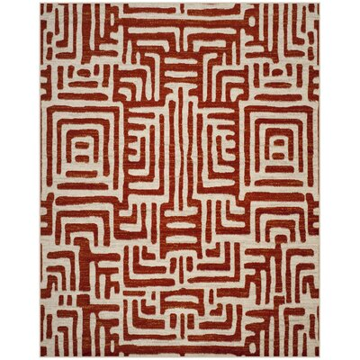 Vadim Ivory/Terracotta Area Rug Rug Size: Rectangle 8 x 10