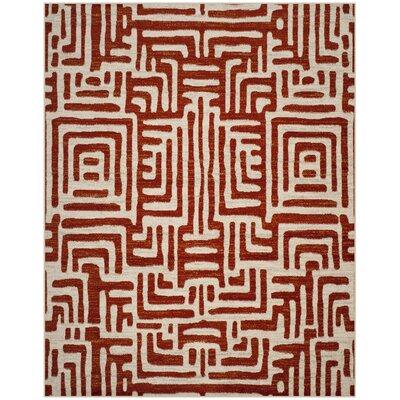 Vadim Ivory/Terracotta Area Rug Rug Size: 8 x 10