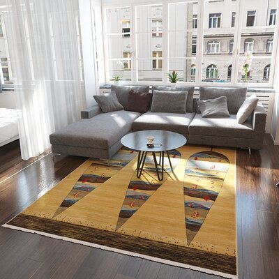 Foret Noire Tan Area Rug Rug Size: Rectangle 8 x 8