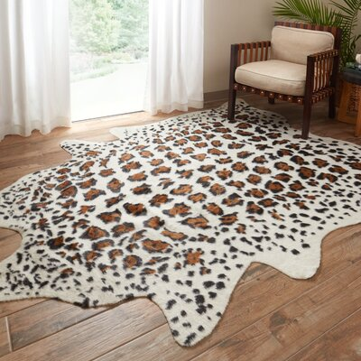 Odin Ivory & Brown Area Rug Rug Size: Rectangle 5 x 66