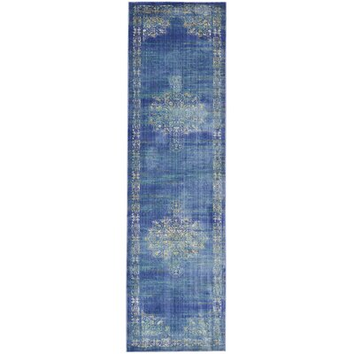 Devan Teal Indoor Area Rug Rug Size: Runner 23 x 710