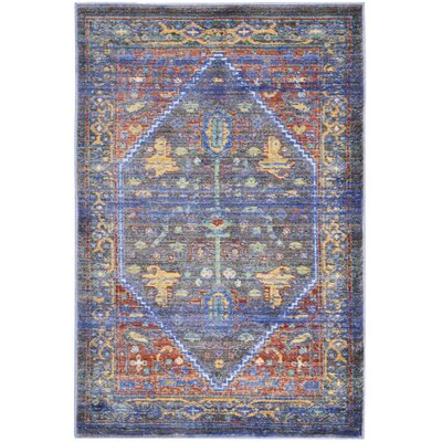 Devan Navy/Red Indoor Area Rug Rug Size: 2 x 3