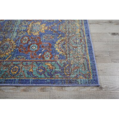 Devan Blue Indoor Area Rug Rug Size: 53 x 73
