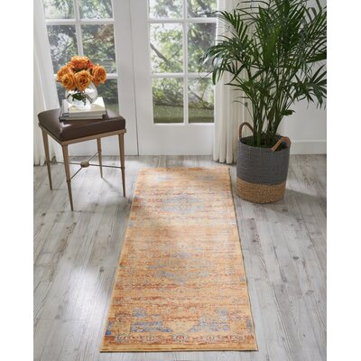 Devan Blue/Russet Indoor Area Rug Rug Size: Runner 23 x 710