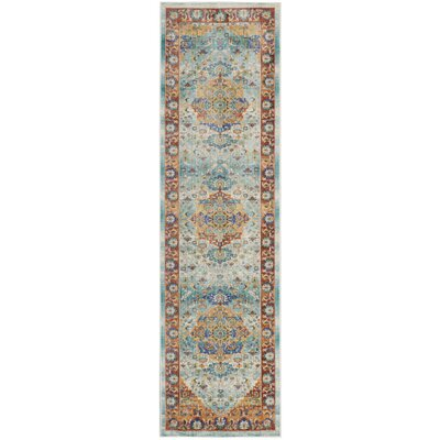 Devan Brown/Blue Indoor Area Rug Rug Size: Runner 23 x 710