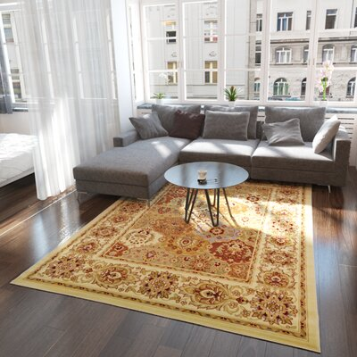 Janiyah Cream Area Rug Rug Size: Rectangle 9 x 12