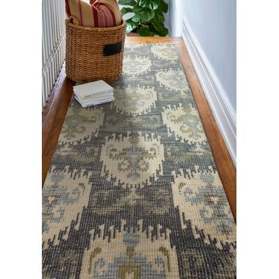 Epping Hand-Knotted Grey Area Rug Rug Size: Runner 26 x 8