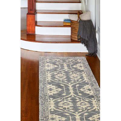 Ferran Hand-Knotted Grey Area Rug Rug Size: Runner 26 x 8