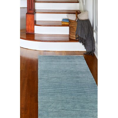Cristhian Hand-Knotted Teal Area Rug Rug Size: Runner 26 x 8
