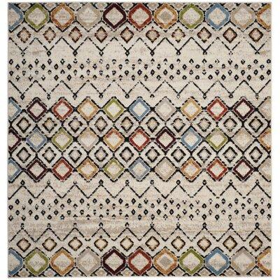 Vadim Ivory Area Rug Rug Size: Square 67