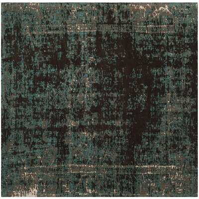 Khemis Blue/Brown Area Rug Rug Size: Square 6