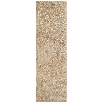 Abrahams Hand-Woven Beige Area Rug Rug Size: Runner 23 x 8