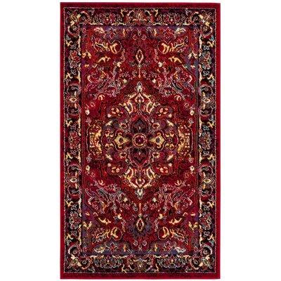 Antoine Red/Fuchsia Area Rug Rug Size: 8 x 10