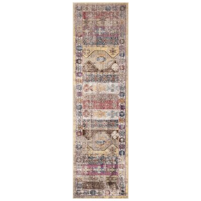 Skye Brown/Pink Area Rug Rug Size: Runner 23 x 8