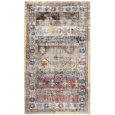 Skye Brown/Pink Area Rug Rug Size: Rectangle 51 x 76
