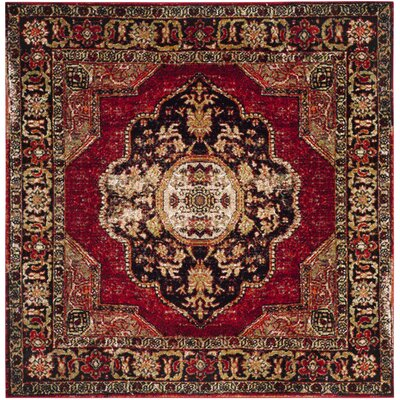 Fitzpatrick Red Area Rug Rug Size: Square 6'7