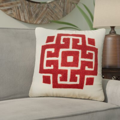 Loza Kujawa Embroidered Cover Throw Pillow