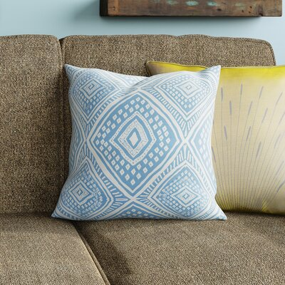 Adler Square Outdoor Throw Pillow Size: 18 H x 18 W x 3 D, Color: Light Blue