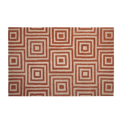 Adelheide Orange/Beige Geometric Rug Rug Size: 5' x 8'