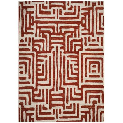 Vadim Ivory/Terracotta Area Rug Rug Size: Rectangle 67 x 92