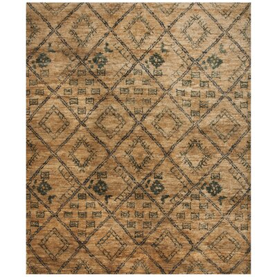 Parisi Hand-Knotted Natural Area Rug Rug Size: 8 x 10