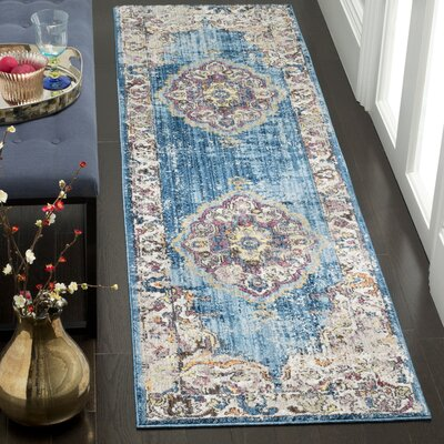 Fitzhugh Blue/Light Gray Area Rug Rug Size: Square 7