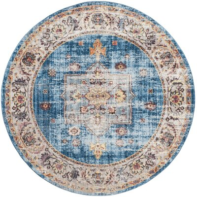 Ruwa Blue/Ivory Area Rug Rug Size: Rectangle 51 x 76