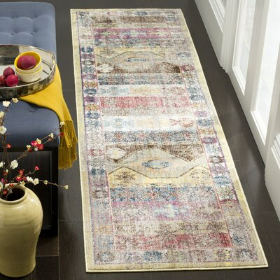 Skye Brown/Pink Area Rug Rug Size: 6 x 9