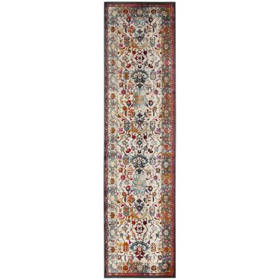 Wayne Ivory/Anthracite Area Rug Rug Size: Runner 22 x 8