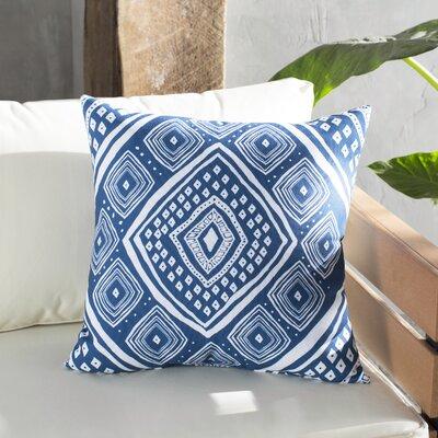 Hieu Outdoor Throw Pillow Size: 18 H x 18 W x 3 D, Color: Navy Blue