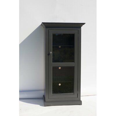 Glass Panel Door Audio Cabinet Color: Iron Ore