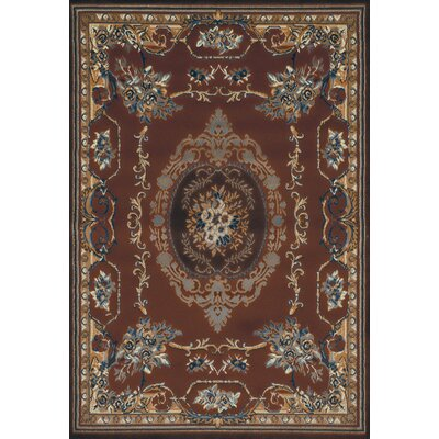 Cherelle Brown Area Rug Rug Size: 53 x 76