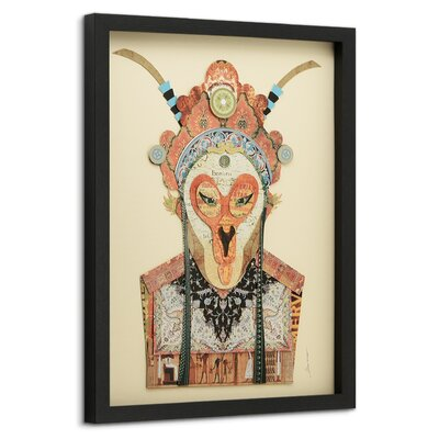 "Beijing Opera Mask #1"" Dimensional Collage Framed Graphic Art Under Glass WLDM6928 39231720"