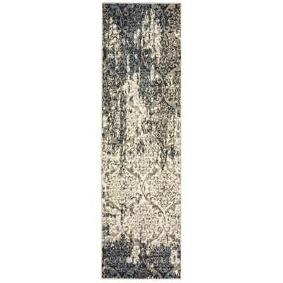 Fayme Black/Tan Area Rug Rug Size: Runner 21 x 75