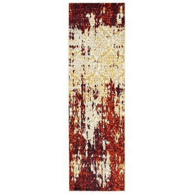 Fayme Red/Cream Area Rug Rug Size: Runner 21 x 75