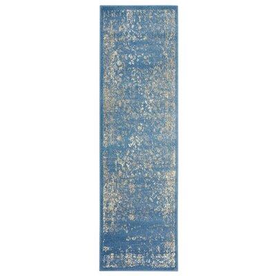 Fayme Blue/Beige Area Rug Rug Size: Runner 21 x 75