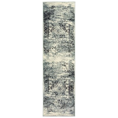 Fayme Silver Area Rug Rug Size: Runner 21 x 75