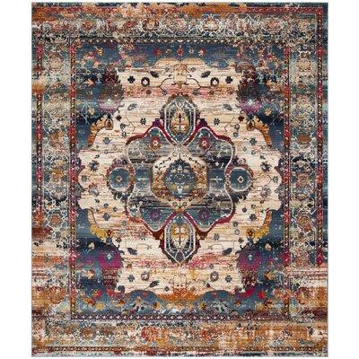 Wayne Slate Blue/Rust Area Rug Rug Size: Rectangle 8 x 10