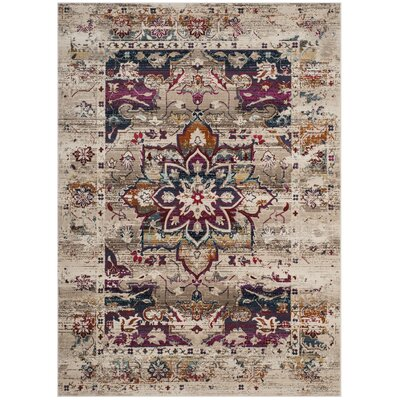 Wayne Cream/Fuchsia Area Rug Rug Size: Rectangle 9 x 12