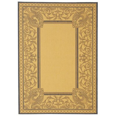 Catori Natural / Blue Outdoor Area Rug Rug Size: Rectangle 53 x 77