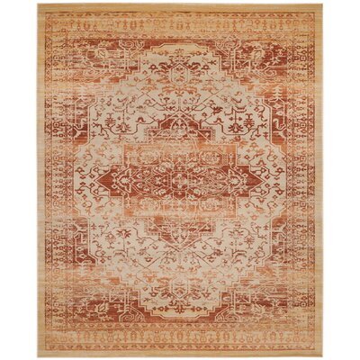 Nessadiou Rust/Creme Area Rug Rug Size: Rectangle 8 x 10